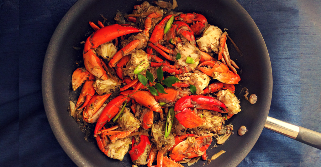 Onion & Pepper Crab