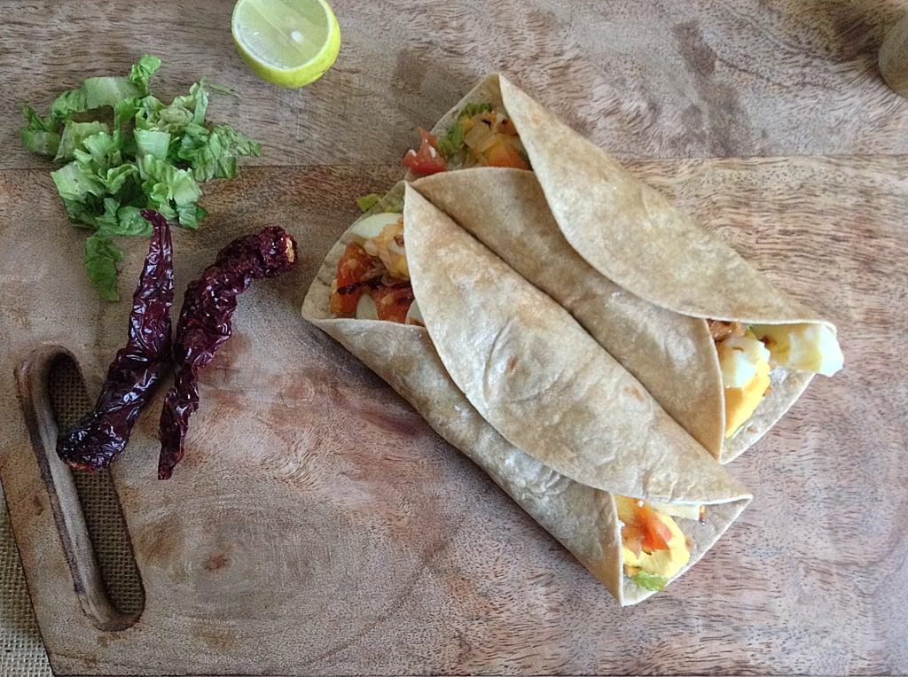 Spicy Egg & Lettuce Wrap