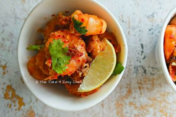 Butter and Garlic Fried Prawns