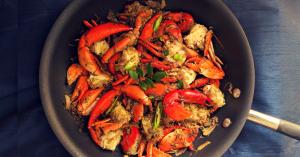 Onion & Pepper Crab