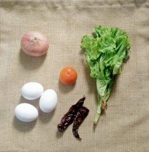 Spicy Egg & Lettuce Wrap - Ingredients