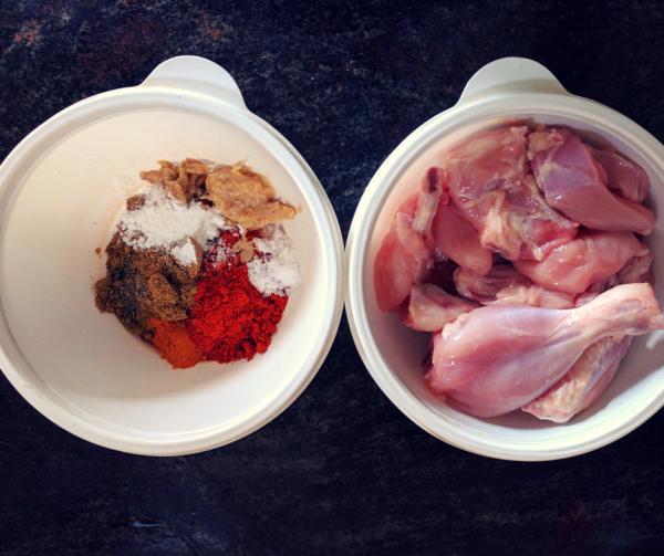 Coriander Fried Chicken - Ingredients