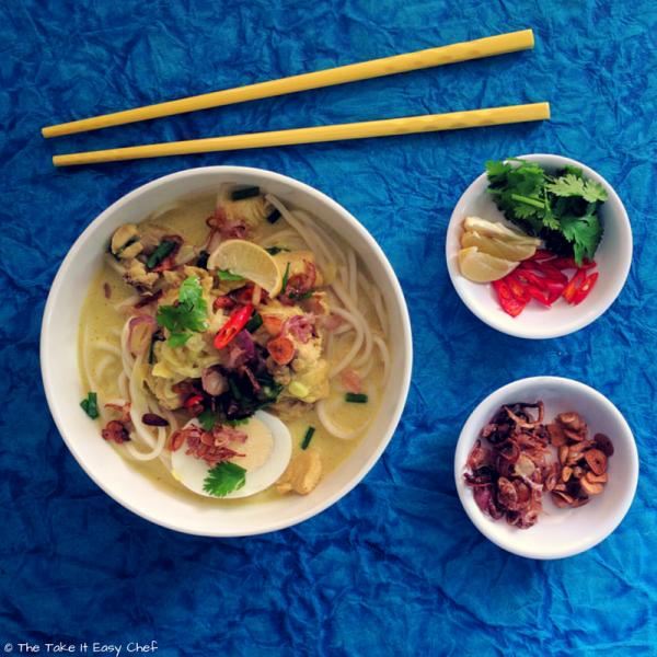 Burmese Khow Suey (Curried Noodle Soup)