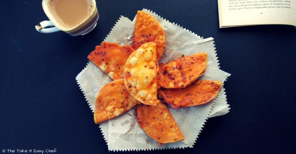 Papada vada (batter fried papad/popadum/appalam)