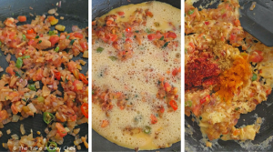 Egg Bhurji (Scrambled Eggs Indian Style) - Step 6, 7, 8. Eggs cooked with spices