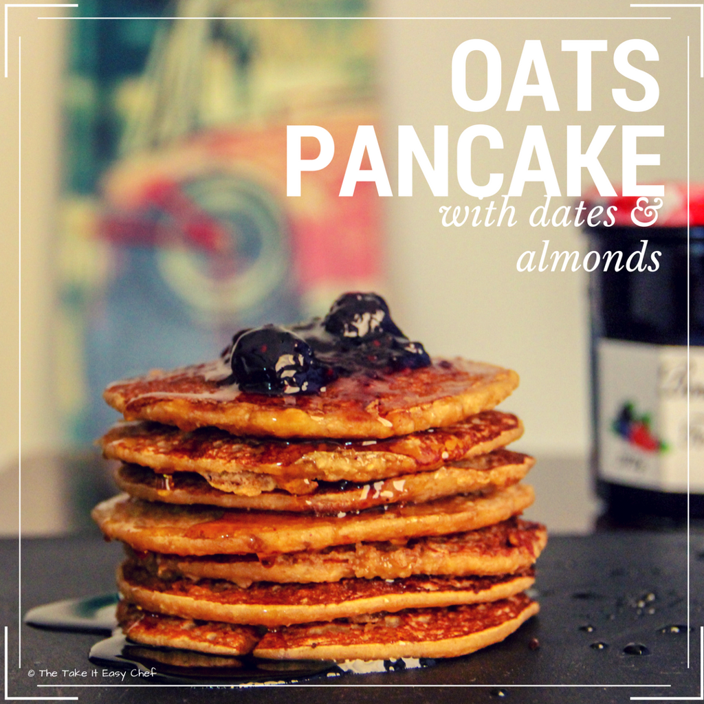 Oats Pancake with Dates & Almonds