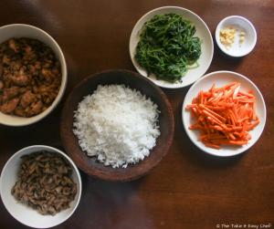 Korean Bibimbap with Chicken Bulgogi - Ready to assemble