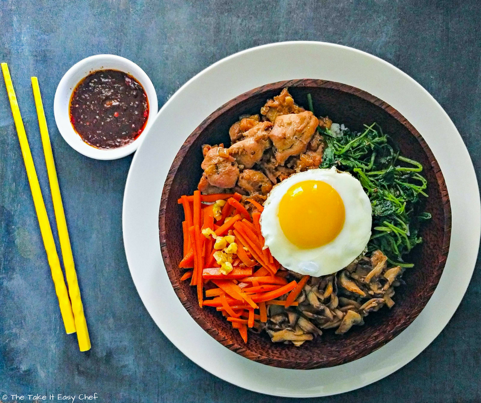 Bibimbap With Chicken Bulgogi Recipe The Take It Easy Chef