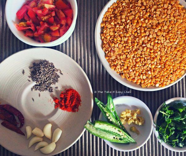 Dal Tadka - Ingredients