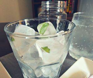 Kulukki Sarbat (Pineapple Limeade) - Ice frozen with mint leaves