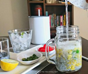 Kulukki Sarbat (Pineapple Limeade) - ready to shake