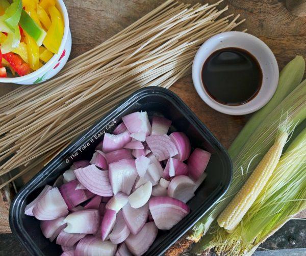 Baby Corn Noodles - Ingredients