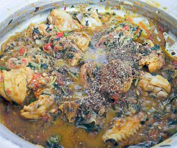 Garam masala is added