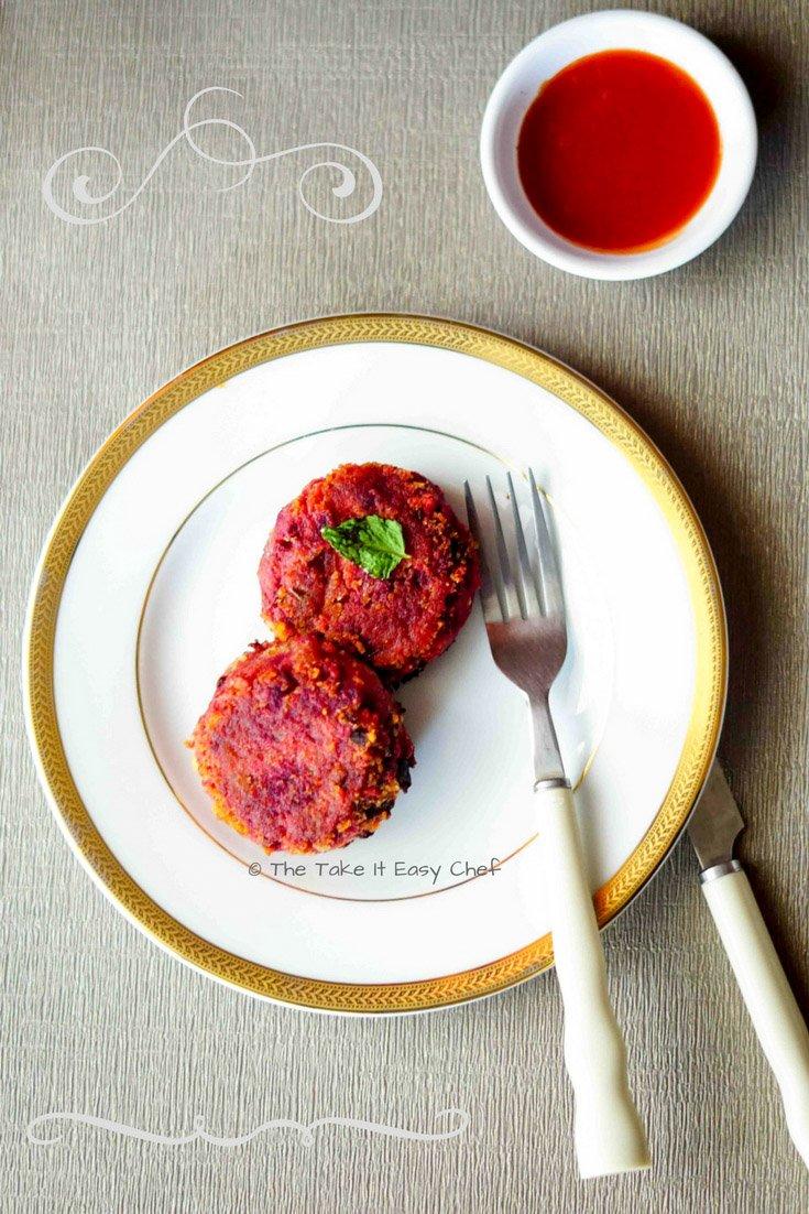 Vegetable Cutlet - Easy Beetroot Patties