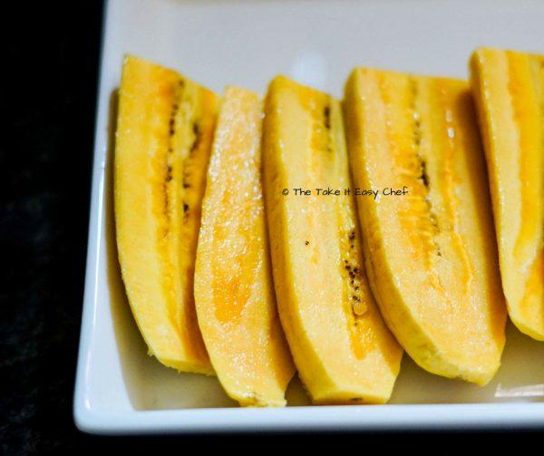 Bananas cut to smaller slices