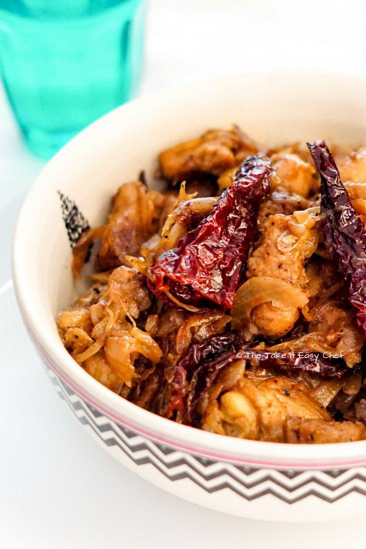 Dry Red Chilli Chicken
