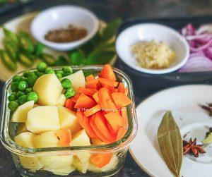 Ingredients for Kerala mutton stew