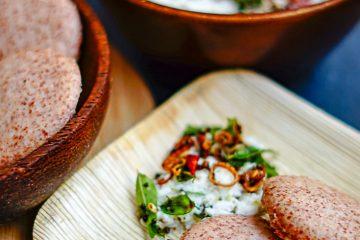 Ragi Idli & Pepper Coconut Chutney