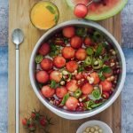 Indian Summer Salad with Honey and Lime Dressing