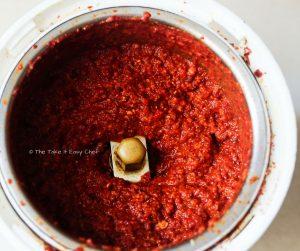 Squid ghee roast steps - Ground spice masala