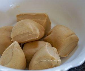 Keema Paratha Steps Picture - Dividing the dough into 8 balls