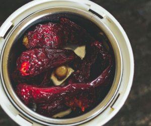Chicken Perattu Steps - Kashmiri chillies