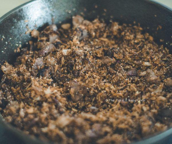 Mushroom Masala Steps - Fried masala is ready