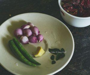 Thalassery Style Sardine Fry Steps - Preparing the ingredients