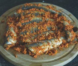 Thalassery Style Sardine Fry Steps - Sardines coated with marinade