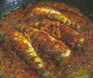Thalassery Style Sardine Fry Steps - Fry on both sides