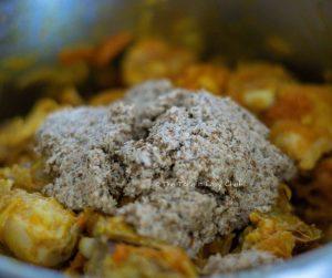 Chicken Salna Steps - Ground paste added in the cooker